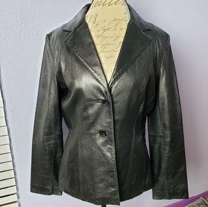 Wilsons Leather Pelle Studio Dress Jacket Button